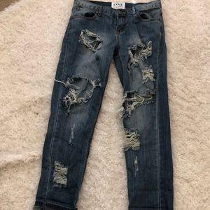 One teaspoon distressed boyfriend jeans,24
